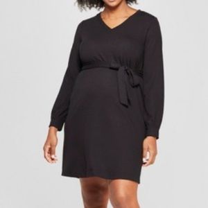 Isabel Maternity black dress